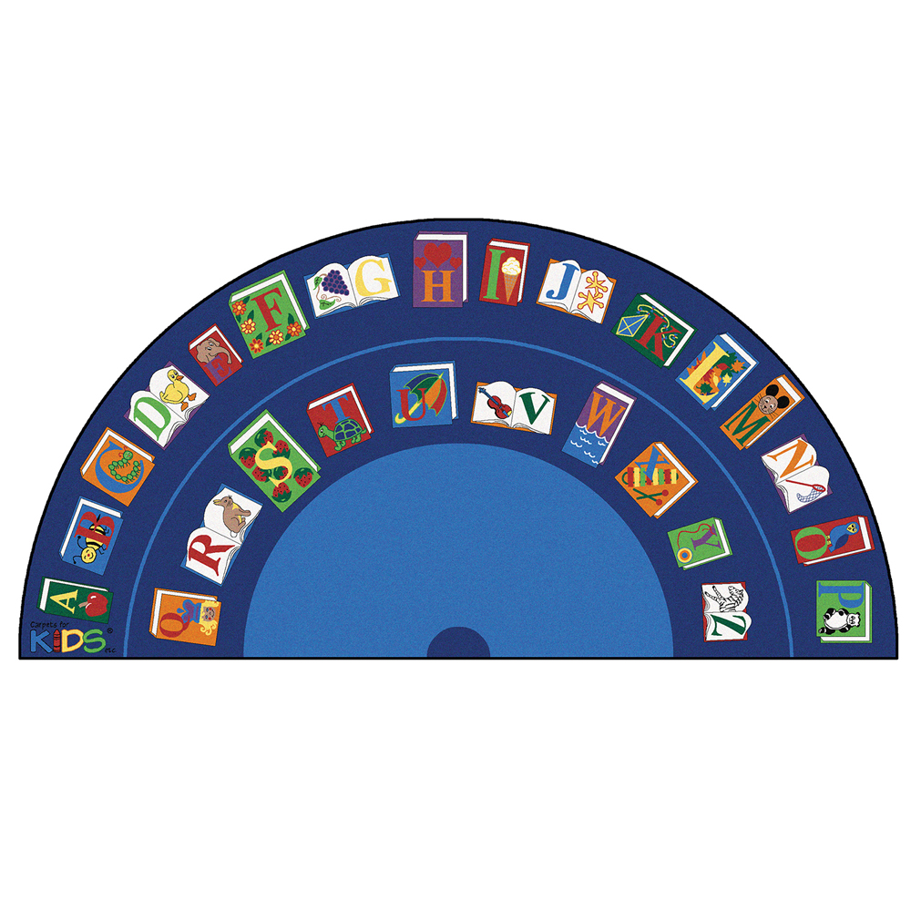 """Carpets for Kids Reading By the Book - 13 ft. 4"""" x 6 ft. 8"""" Semi-circle"""