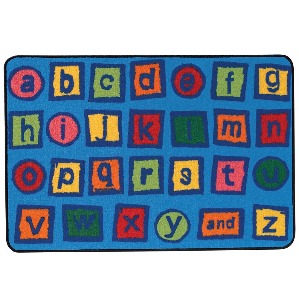 KIDS Value Rugs™ Alphabet Blocks - 6 ft. x 4 ft.