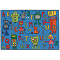 KIDS Value Rugs™ Reading Robots - 6 ft. x 4 ft.