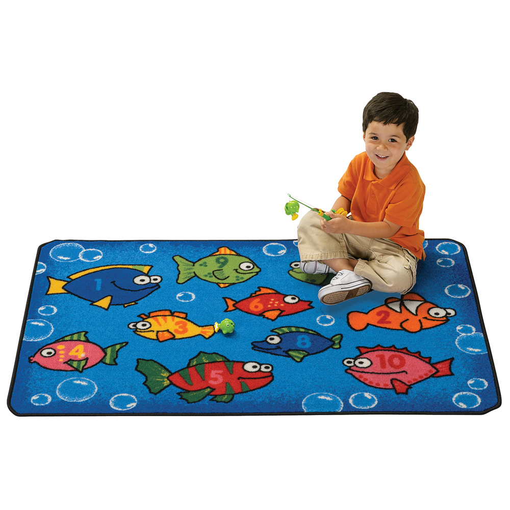 "KIDS Value Rugs™ Something Fishy - 4 ft. 6"" x 3 ft."