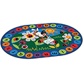 Carpets for Kids Ladybug Circletime - 6 ft. 9 x 9 ft. 5 Oval