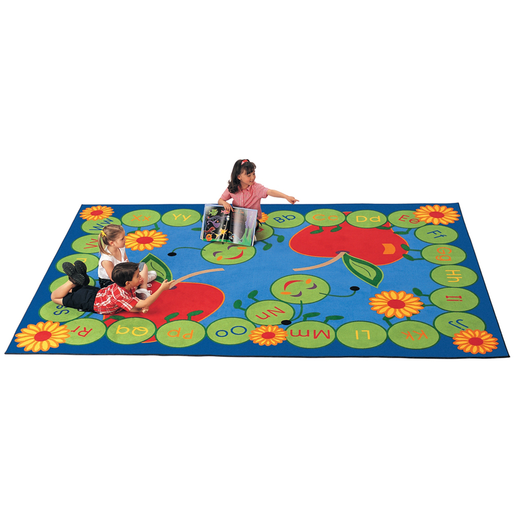 "Carpets for Kids ABC Caterpillar Rug - 5 ft.10"" x 8 ft. 4"" Rectangle"