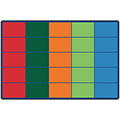 Carpets for Kids Colorful Rows Seating - 6 ft x 9 ft