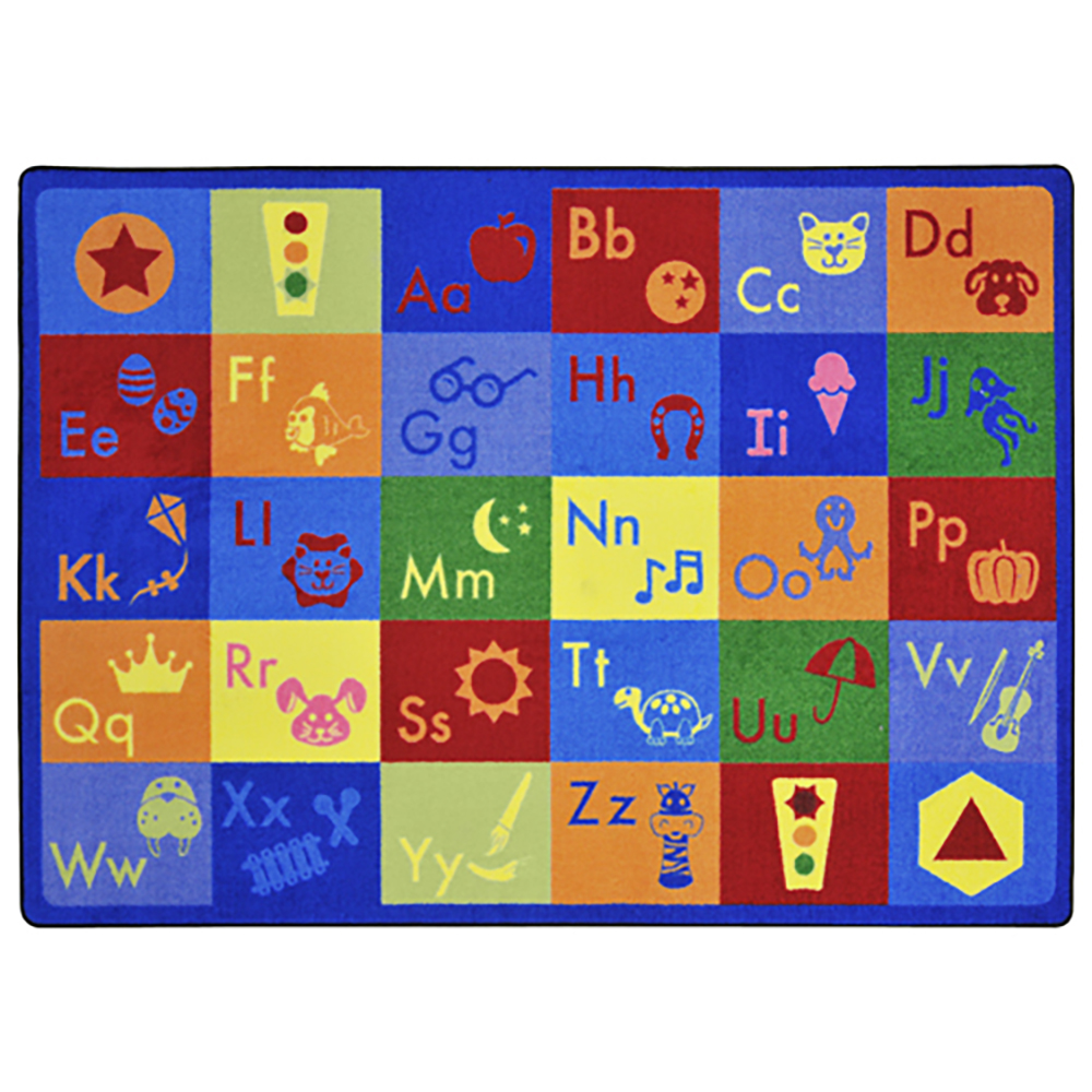 "Joy Carpets Simply Phonics™ Carpets - 5 ft. 4"" x 7 ft. 8"""