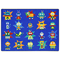 Joy Carpets Robot Invasion™ Carpets - 5 ft. 4 x 7 ft, 8