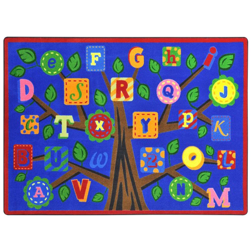 """Joy Carpets Alphabet Leaves™ Children's Carpets - 7 ft. 8"""" x 10 ft. 9"""""""
