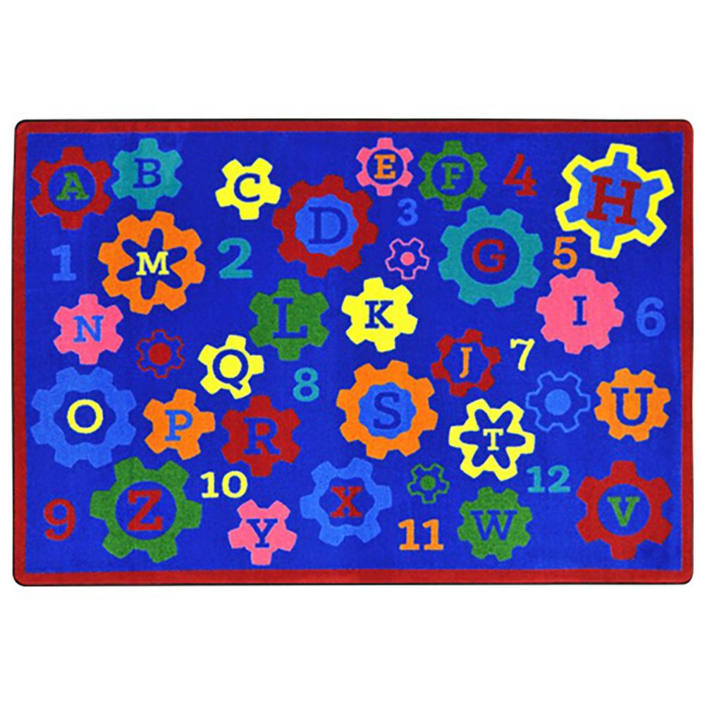 "Joy Carpets Geared for Learning™ Children's Reading Carpets - 5 ft 4"" x 7 ft 8"""
