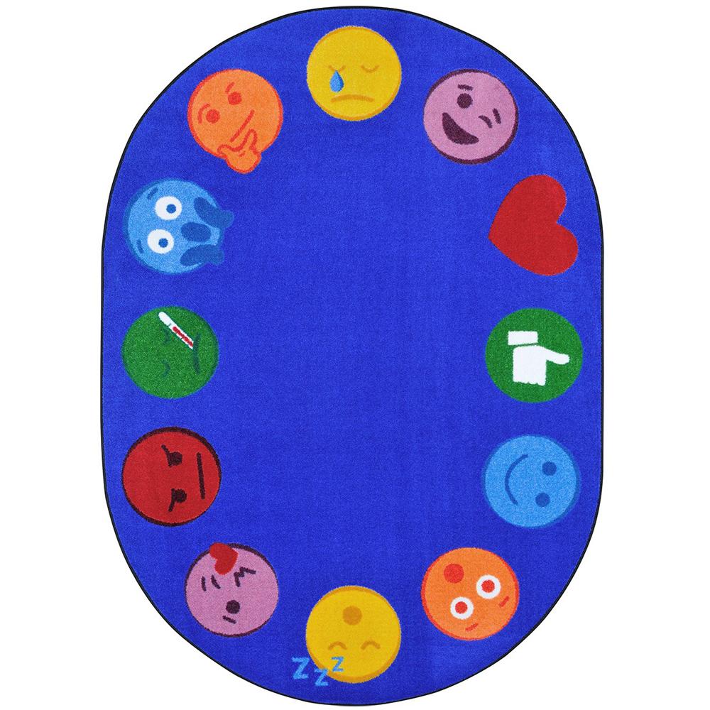 "Joy Carpets Emojis Edge™ - 10 ft. 9"" x 13 ft. 2"" Oval"