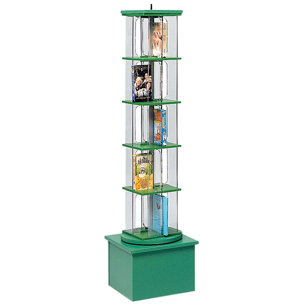 """MAR-LINE® Junior Multimedia Rotor Stand - Single Tower, 57""""H x 15-1/2""""W x 15-1/2""""D"""