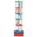 MAR-LINE® Junior Rotor Multimedia Stand - Single Tower with Low Base, 55