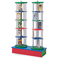 MAR-LINE® Junior Multimedia Rotor Stand - Double Tower with Low Base
