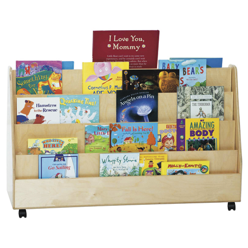 Wood Designs™ Double-Sided Mobile Book Display - X-tra Wide