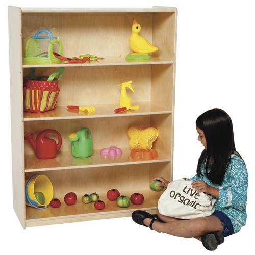 """Wood Designs™ Children's Bookshelf - 4 Shelves, 46-3/4""""H"""