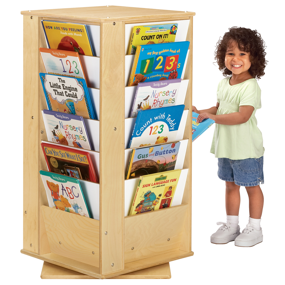 Jonti-Craft® Rotating  Literacy Tower - Small