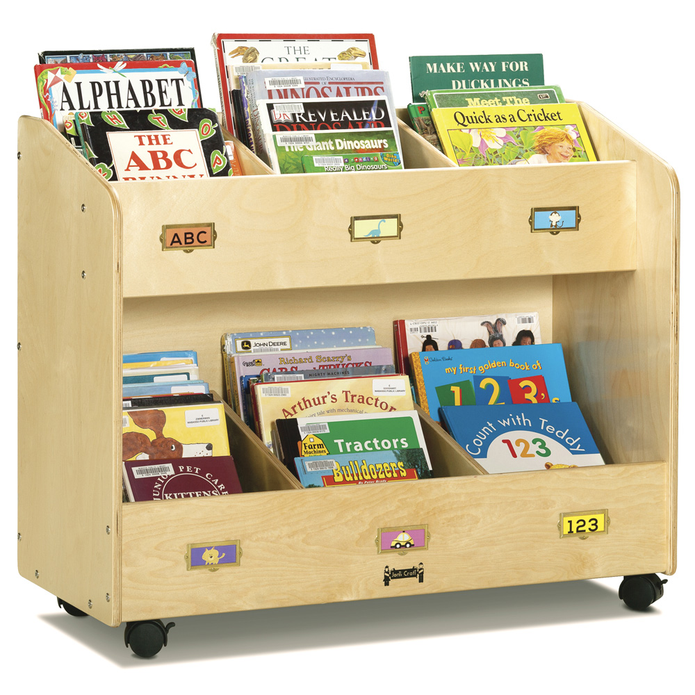 Jonti-Craft® Mobile Book Organizer - 6 Section