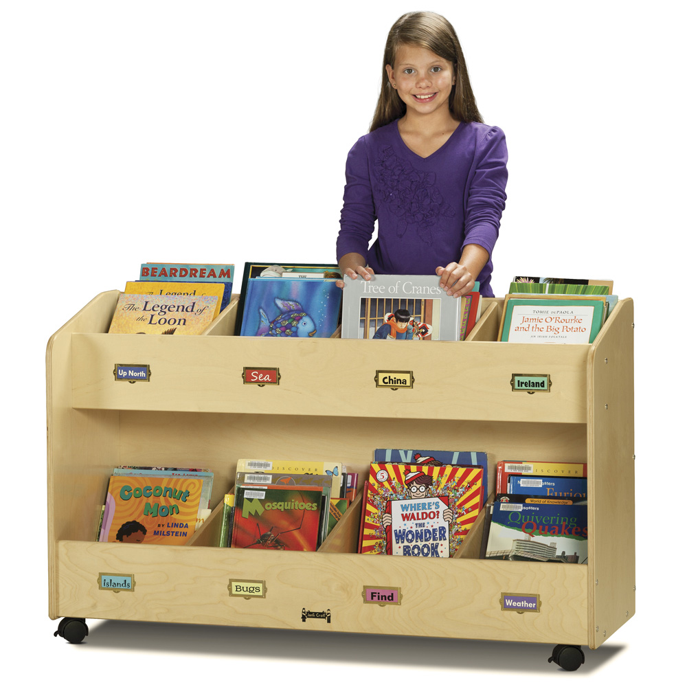 Jonti-Craft® Mobile Book Organizer - 8 Section