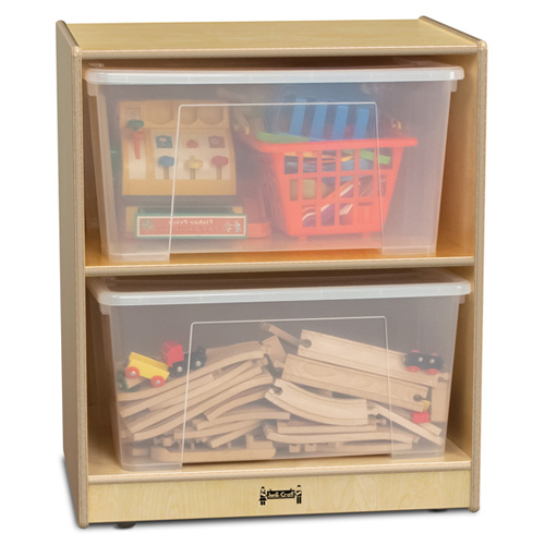 Jonti-Craft® Single Jumbo Tote Storage - With 2 Clear Totes and Lids