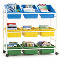 Copernicus Leveled Reading Book Cart - Standard, 9 Tubs