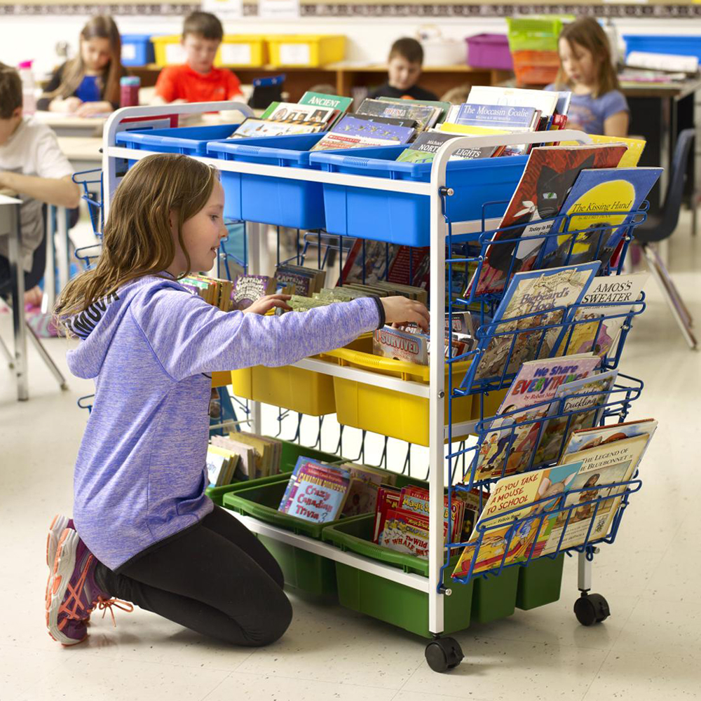 Copernicus Leveled Reading Book Cart - Deluxe, 9 Tubs