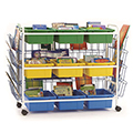 Copernicus Deluxe Leveled Reading Book Browser Cart - 9 Tubs