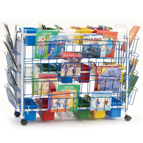 Copernicus Leveled Reading Book Cart - Deluxe, 18 Tubs
