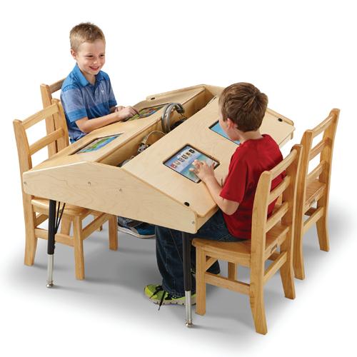 Jonti-Craft® Tablet Table - Quad Stationary