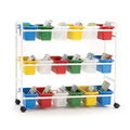 Copernicus Leveled Reading Book Cart - Standard, 18 Tubs