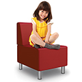 MooreCo® Kids Modular Soft Seating Collection - Armless Chair, Faux Leather