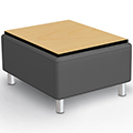 MooreCo® Kids Modular Soft Seating - Bench w/Laminate Top, Faux Leather