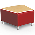 MooreCo® Kids Modular Seating- 22.5° Bench w/Laminate Top, Faux Leather