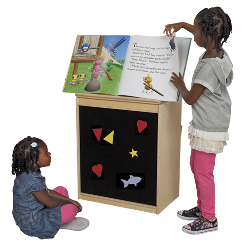 Wood Designs™ Big Book Easel - Flannel Front