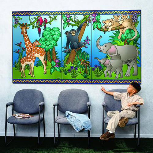 Playscapes® Animal Families Mural - Medium