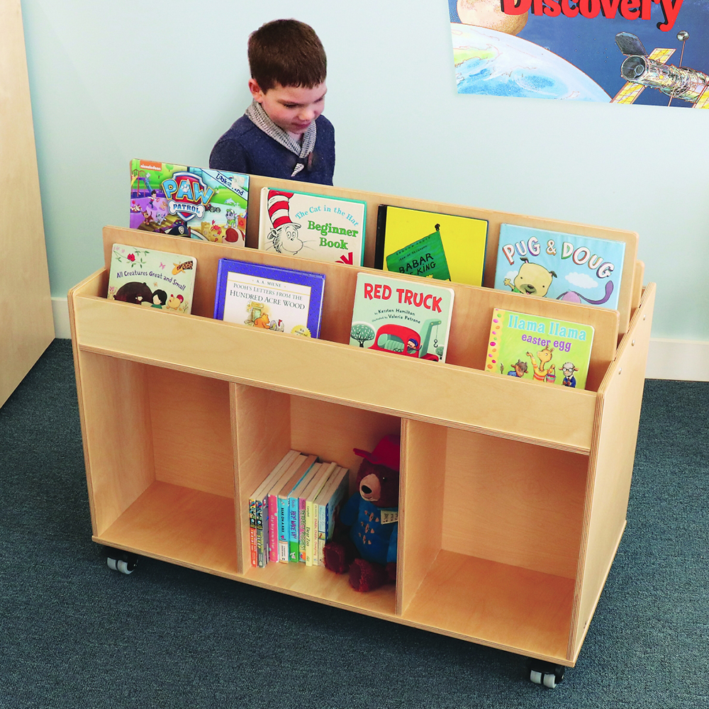 Whitney Brothers® Two-Sided Mobile Book Storage Island