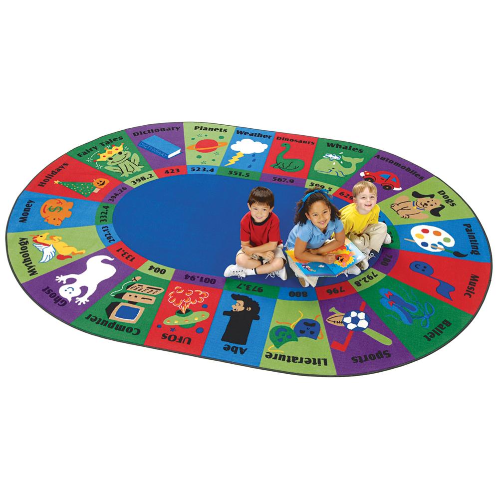 Carpets for Kids Dewey Decimal Rug