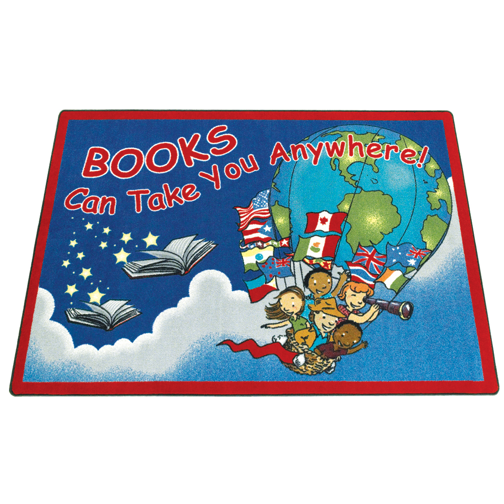 Joy Carpets Books Can Take You Anywhere™ Children's Reading Carpets