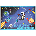Joy Carpets Blast Off With a Good Book™ Children's Reading Carpets