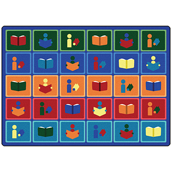 Joy Carpets Library Blocks™ Children's Reading Carpets