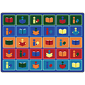 Joy Carpets Library Blocks™ Children's Reading Carpets