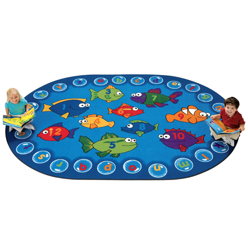 Carpets for Kids Fishing For Literacy Children's Reading Carpets