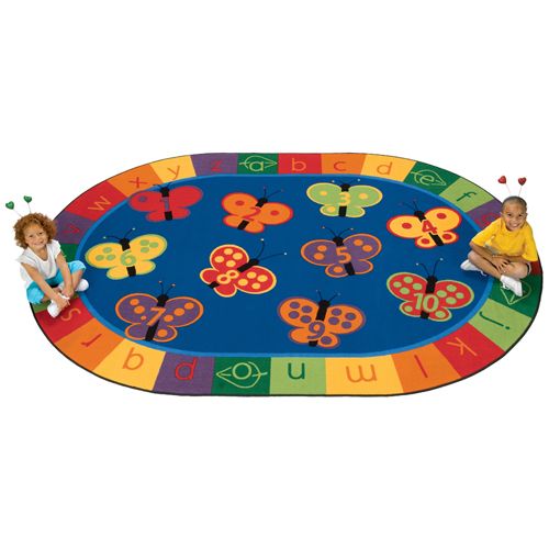 Carpets for Kids 123 ABC Butterfly Fun Rug Children's Reading Carpets