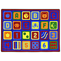 Joy Carpets Letters Count™ Children's Carpets - 5 ft. 4 x 7 ft. 8