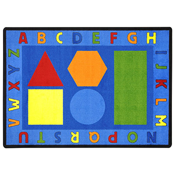 Joy Carpets Alphabet Pinwheel ™ Children's Reading Carpets