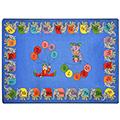Joy Carpets Circus Elephant Parade™ Children's Reading Carpets