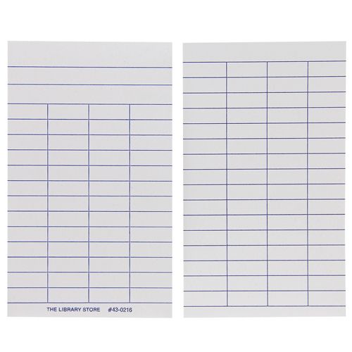 Book Cards - 4-Column with Heading, 1000/Box