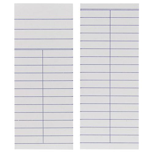 Media Book Cards - 2-Column, 500/Box