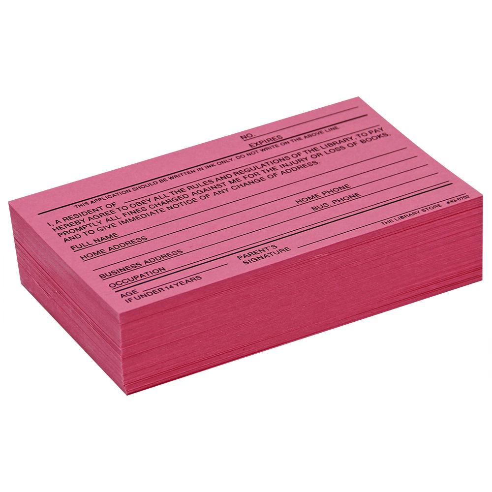 Application Cards - Combination, 100/Pkg