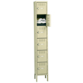 tennsco™ Box Lockers -  Single - 6/Tier - Standing Unit