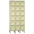 tennsco™ Box Lockers - Triple - 6/Tier - Standing Unit