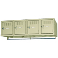 tennsco™ Box Lockers - 4/Box -  Wall Mounted Unit  with Coat Rod