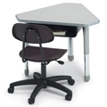 SMITH SYSTEM® Interchange Desk - Diamond with Book Box